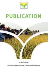Etude de l'effet de la date de semis et de l'age des plantules au repiquage sur le rendement de trois varietes de riz ...