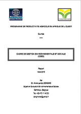 Guinee CGES- Rapport Provisoire-WAAPP-Version du 19 Oct.2016