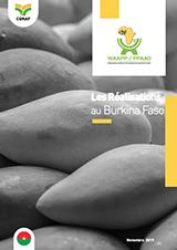 Les réalisations du PPAAO au Burkina Faso