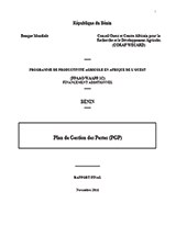 Benin PGPP-Rapport Provisoire-WAAPP-Version du 10 Nov  2016 (REV BY AG16nov16)